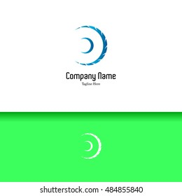 Wheel of planet lowercase flat logo design template