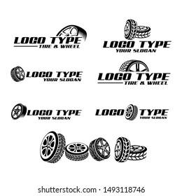 Wheel and tire logo vector