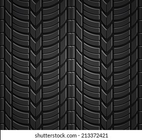 Wheel tire seamless pattern. Vector realistic illustration