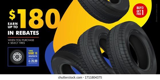 Wheel tire tracks background design. Vector automotive banners template. Grunge tire tracks backgrounds for landscape poster, digital banner, flyer, booklet, brochure and web design. Editable graphic.