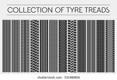 Wheel or tire, tyre treads or car tracks.