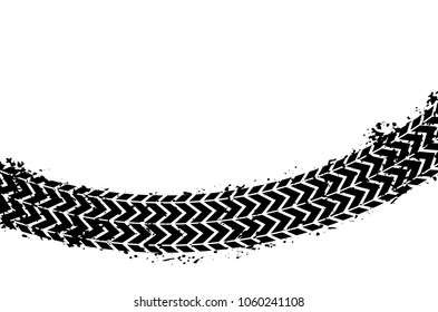 Wheel track asphalt, vector