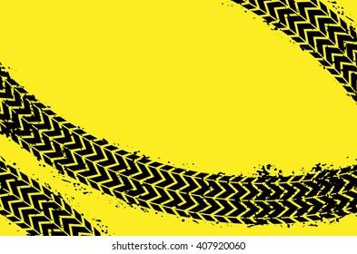 Wheel track asphalt, vector