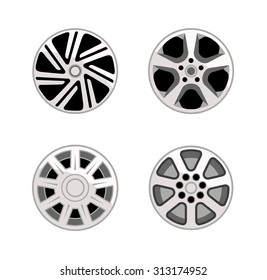 Wheel trims in four different designs.
