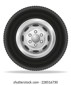 wheel for truck tracktor and van vector illustration isolated on white background