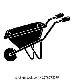 Wheelbarrow icon. Simple illustration of wheelbarrow vector icon for web design isolated on white background