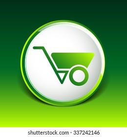 wheelbarrow icon vector button logo symbol concept.