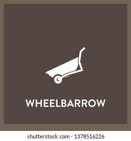 wheelbarrow icon vector. wheelbarrow sign on white background. wheelbarrow icon for web and app
