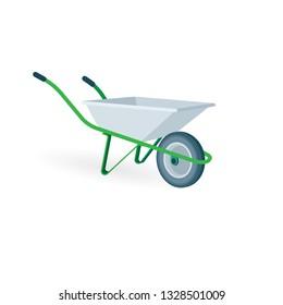 Wheelbarrow.  Wheelbarrow vector illustration.