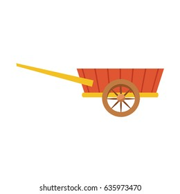 wheelbarrow wooden farm trasnport element