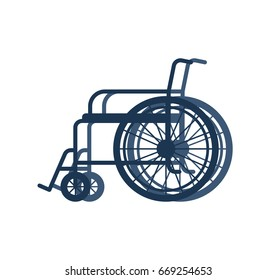 Wheelchair for disabled isolated on white background