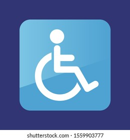 Wheelchair flat icon. Medical vector. Graph symbol for your web site design, logo, app, UI. Vector illustration, EPS10.