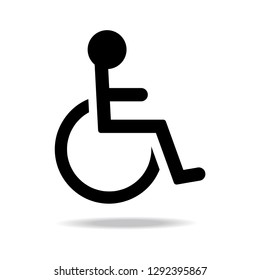 Wheelchair icon Parking concept for the disabled Simple illustration design Cart icon from the medicine collection Web design Vector illustration