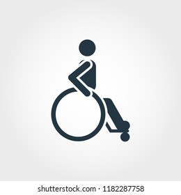 Wheelchair icon. Simple element illustration Wheelchair icon design from medicine collection. Line style icon design. Symbols for web design, apps, software, print.