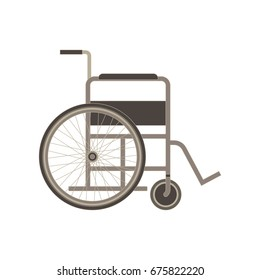 Wheelchair icon vector flat illustration design isolated on white