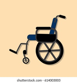 Wheelchair icon, vector illustration design. Medicine and health care objects.
