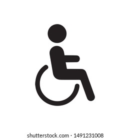 wheelchair icon vector. Linear style sign for mobile concept and web design. handicapped patient symbol illustration. Pixel vector graphics - Vector.