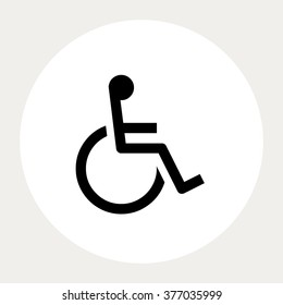 Wheelchair icon.Medical Icons. Vector illustration.