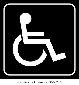 wheelchair icons set great for any use. Vector EPS10.