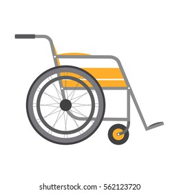 Wheelchair isolated on white background. Vector icon