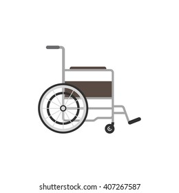 Wheelchair medical icon. Wheelchair vector illustration. Wheelchair isolated on white background