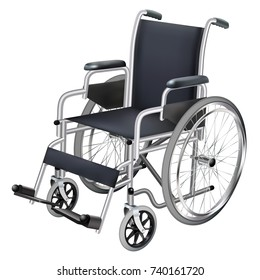 Wheelchair. Medicine and health. Isolated object. Vector illustration.