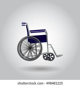 Wheelchair on grey background