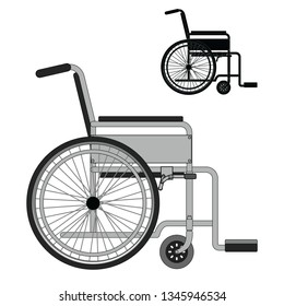wheelchair, patient, vector