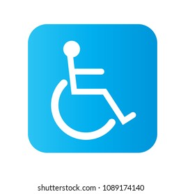 Wheelchair people vector icon