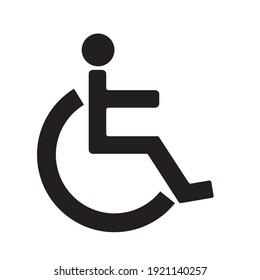 Wheelchair symbol, medical icon, pictogram