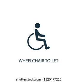 wheelchair toilet creative icon. Simple element illustration. wheelchair toilet concept symbol design from medical collection. Can be used for web and mobile.