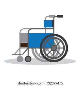Wheelchair vector flat object. Isolated illustration on white background.