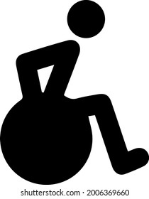 Wheelchair vector icon eps 10. Simple isolated illustration. Wheelchair pictogram