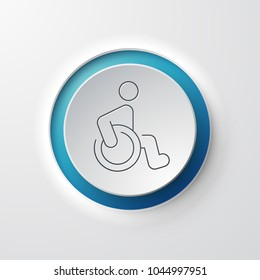 Wheelchair Web Icon