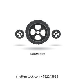 wheels logi.modern design.vector illustration