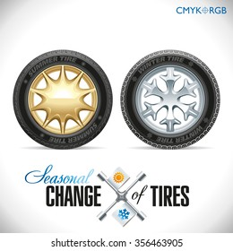 Wheels and tires for a given season