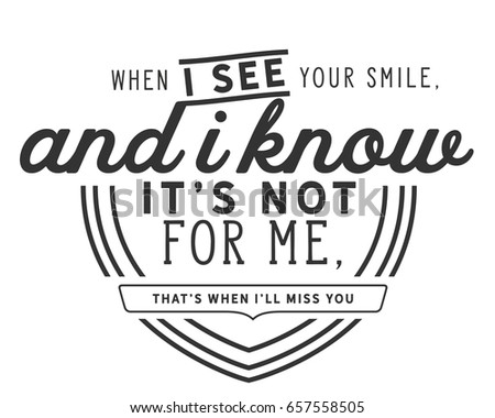 When See Your Smile Know Not Stock Vector Royalty Free 657558505