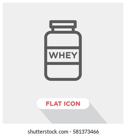 Whey protein supplement vector icon