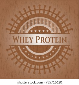 Whey Protein wood signboards