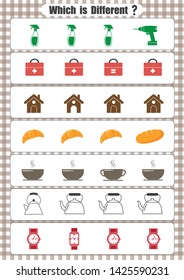 Which is Different Worksheet, fun activities for preschool kids