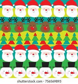 Whimsical christmas pattern