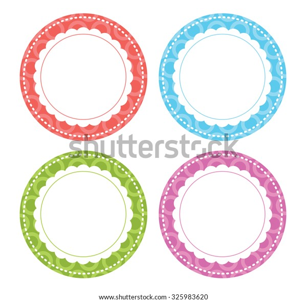 Whimsical Circle Labels