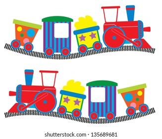 Whimsical Toy Train