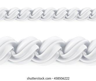 Whipped cream, vector seamless pattern mesh