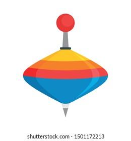 Whirligig toy icon. Flat illustration of whirligig toy vector icon for web design