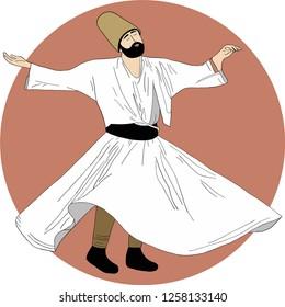 whirling dervish, Semazen, sufi, sufism, sufi dance, sufi whirling, dervis, mevlana, ramadan, ramadan kareem, ramazan, islamic, muslim, dervishes