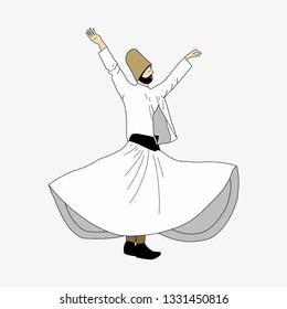 whirling dervish, Semazen, sufi, sufism, sufi dance, sufi whirling, dervis, mevlana, ramadan, ramadan kareem, ramazan, islamic, muslim