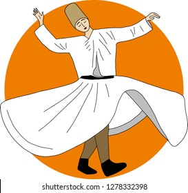 whirling dervish, sufi, Semazen, sufism, sufi dance, sufi whirling, dervis, ramadan, ramadan kareem, ramazan
