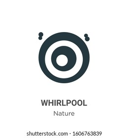Whirlpool glyph icon vector on white background. Flat vector whirlpool icon symbol sign from modern nature collection for mobile concept and web apps design.