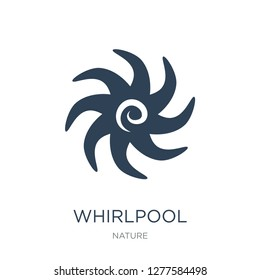 whirlpool icon vector on white background, whirlpool trendy filled icons from Nature collection, whirlpool vector illustration